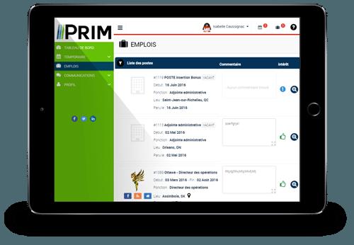 Prim-Web Fenêtre Emplois